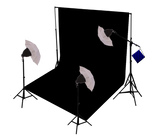 650W Continuous Daylight Reflector Equipment with White/ Black Photo Muslin Backdrop Kit