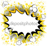 Black and Yellow Comic Pop Star Print Photography Backdrop