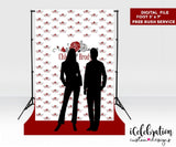 Personalized Step and Repeat Logo Indelible Fabric printed background