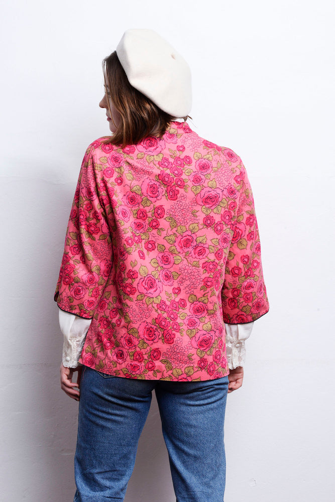 Load image into Gallery viewer, 60s Floral Print Jacket - Lovers Vintage