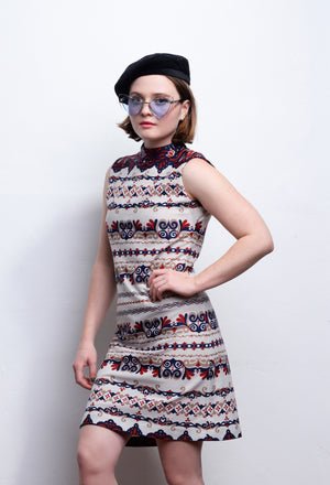 60s Vintage Mod Dress Midi - Loversvintage
