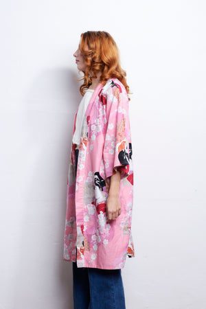 Load image into Gallery viewer, Cherry Blossom Kimono One Size - Loversvintage