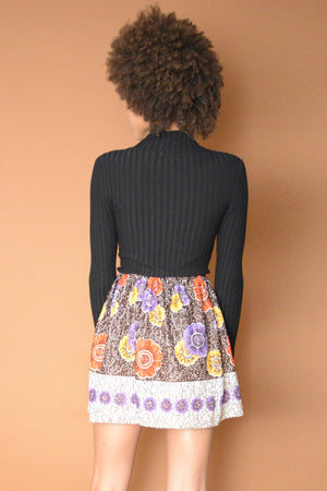 Floral Sixties Mini Skirt