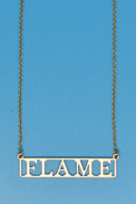 Flame Lovers Necklace - Loversvintage