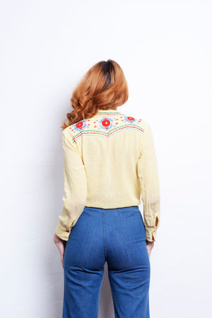 70s Embroidered Southwestern - Loversvintage