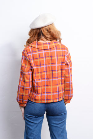 1960s Orange you Plaid Jacket - Loversvintage
