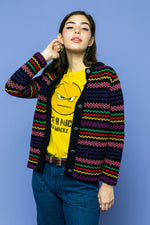 Vintage Rainbow Cardigan we Love Grunge - Loversvintage