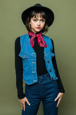 Western Way Denim Vest - Loversvintage
