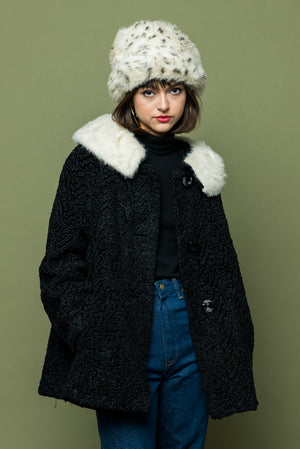 Vintage Fur Trim Coat