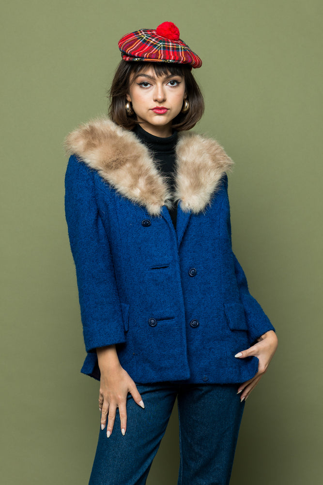 Lady Blue Vintage Fur Jacket - Loversvintage