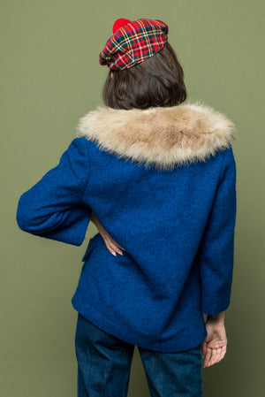 Lady Blue Vintage Fur Jacket