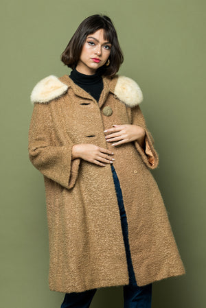 Load image into Gallery viewer, Vintage Mod Fur Trim Jacket - Loversvintage