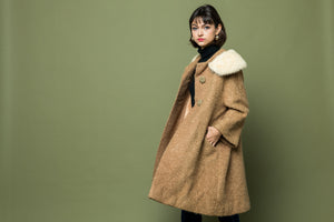 Vintage Mod Fur Trim Jacket
