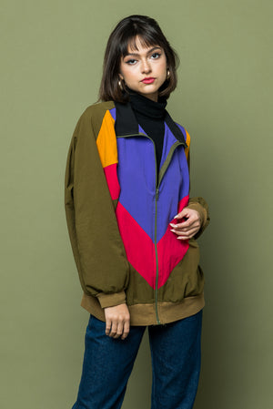 Nineties are Fun Color Block Jacket