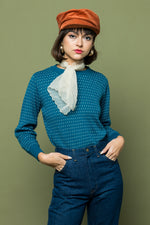 Teal Dotted Pullover - Lovers Vintage