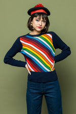 Pocketful of Rainbows Sweater - Loversvintage