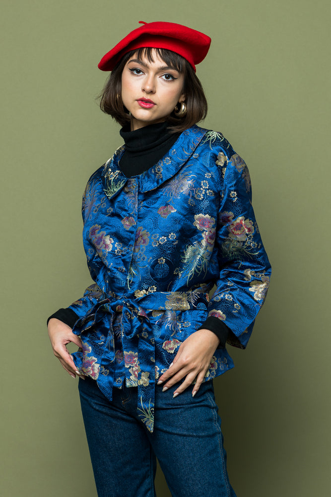 Asian Silk Jacket - Loversvintage