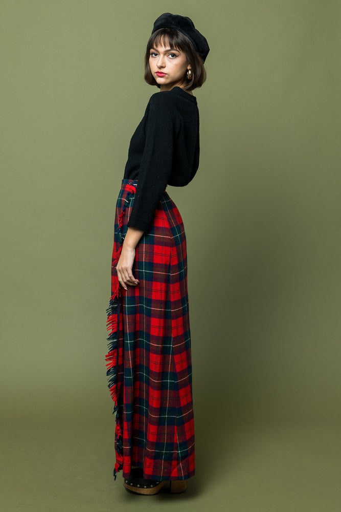 Wool Plaid Pendelton Maxi Skirt - Loversvintage