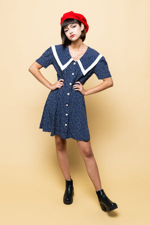 Vintage Sailor Navy Dress
