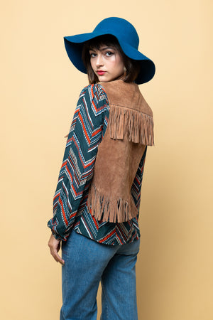 Leather Fringes of Society Vintage Vest