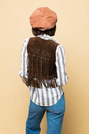 Vintage Fringes Leather Vest