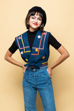 Vintage Rainbow Child Denim Vest - Loversvintage