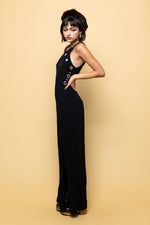 Black Slinky Maxi Dress - Loversvintage