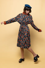 Flower Power it's Fall Dress - Loversvintage