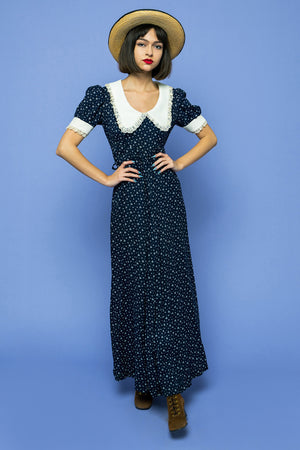 Vintage Dolly Dots Maxi Boho