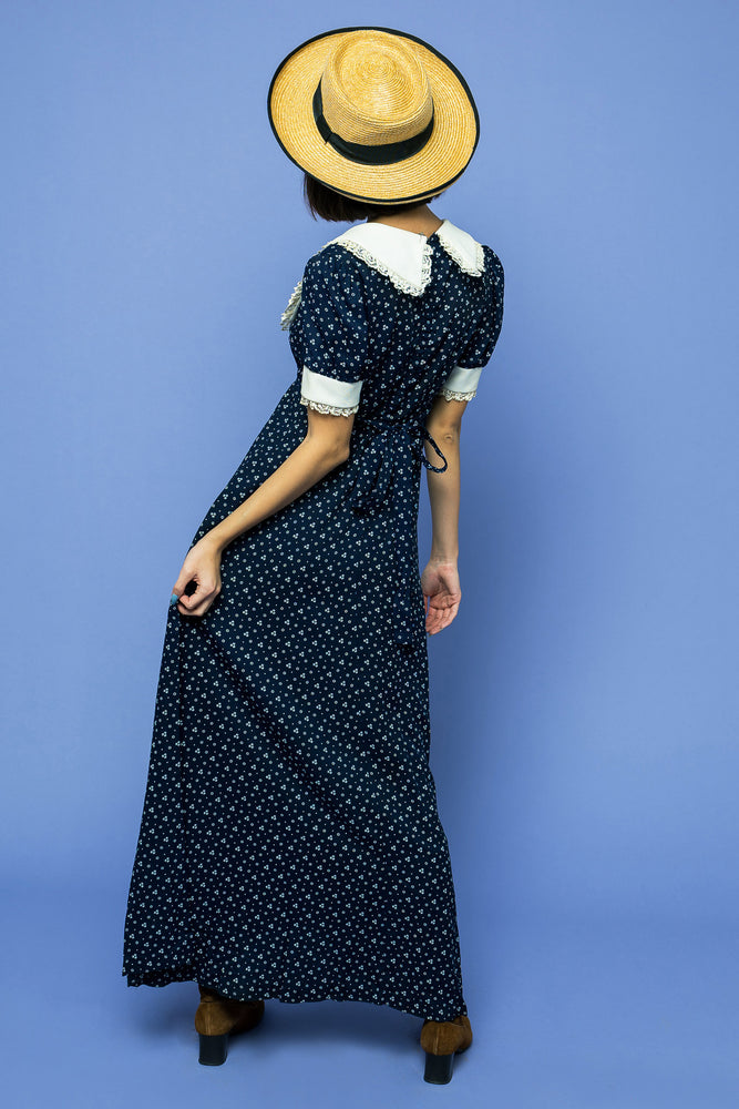 Vintage Dolly Dots Maxi Boho - Loversvintage