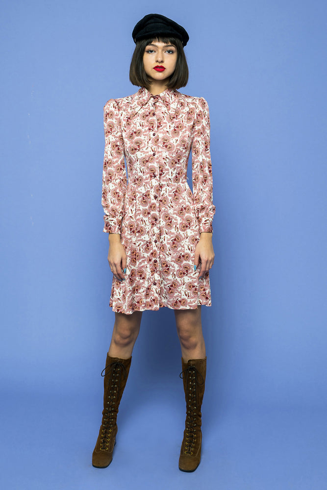 Load image into Gallery viewer, Vintage Boho Mini Dress - Loversvintage