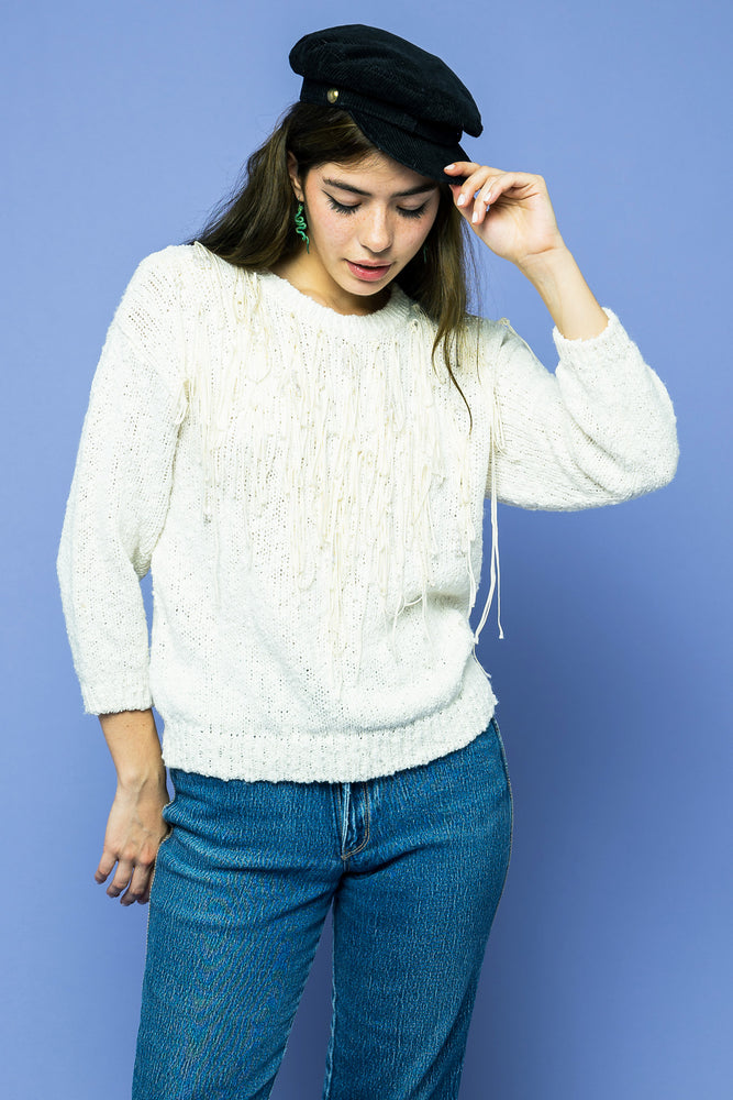 Vintage Fringed Sweater - Loversvintage