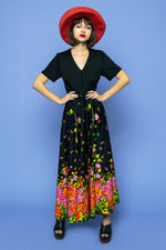 Vintage Floral Explosion Maxi Dress - Lovers Vintage