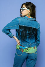 Vintage Fringe Denim Jacket - Loversvintage