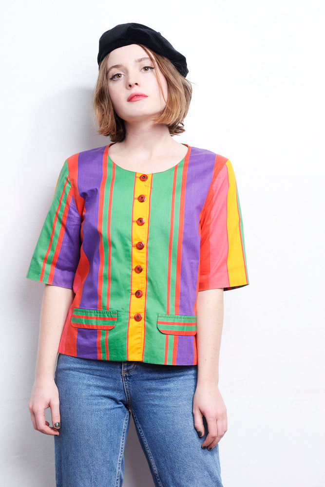 Stripe Vintage Blouse - Lovers Vintage