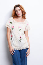 Vintage Embroidered Top - Loversvintage
