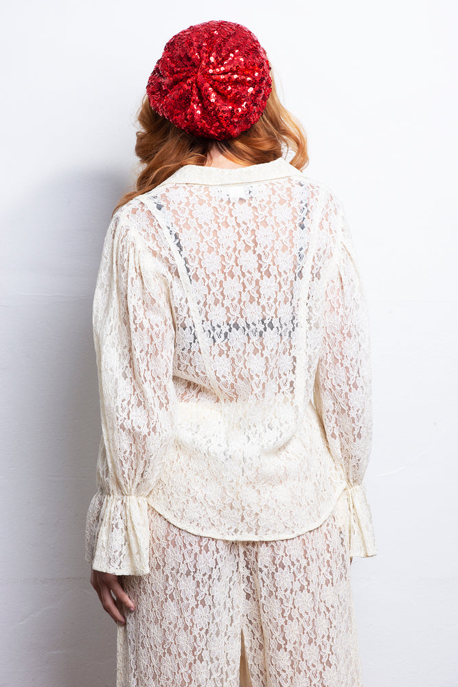 Vintage Laced 90s Blouse - Lovers Vintage