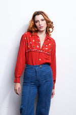 Cowgirl in the Sand Vintage Top 70s - Loversvintage