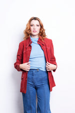 Suede Red Jacket 1970s - Loversvintage