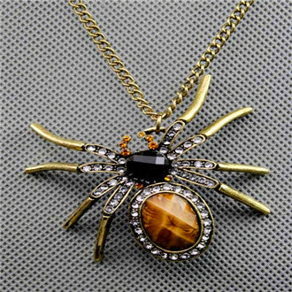 Antique Spider Steampunk Necklace