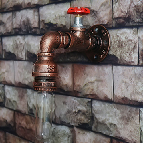 Water Pipe Industrial Steampunk Wall Lamp