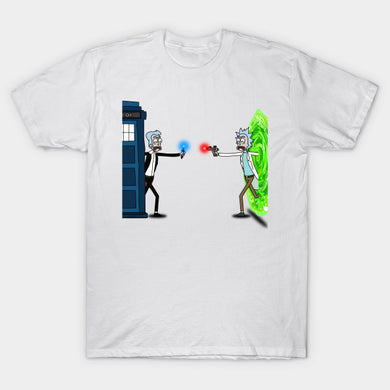 Rick Morty T Shirt Ricktions in Time And Space Wormhole