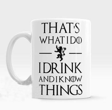 I drink and I know things Tyrion Lannister Mugs coffee mug