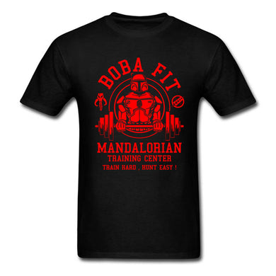 Boba Fit T Shirt  Star Wars Mandalorian Traininger
