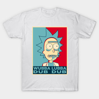 Rick and Morty Men T-Shirt Wubba Lubba Dub Dub