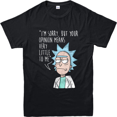 Rick and Morty T-Shirt, Opinion Means Nothing