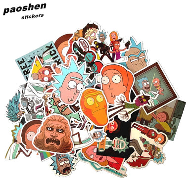 35Pcs/bag American Drama Rick and Morty Funny Sticker Decals