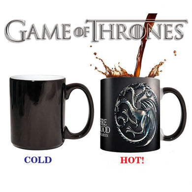 Game of Thrones Cup Targaryen Taza Juego De Tronos Mark Color Changing Copo Sensitive Ceramic Drimkware