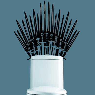 Iron Throne Toilet wall Sticker Game of Thrones