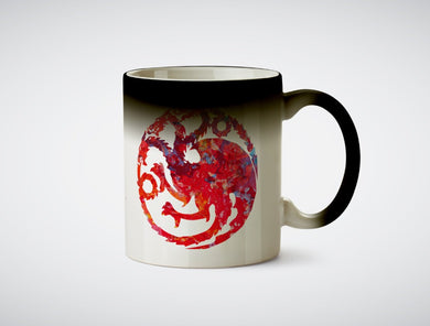 Game of thrones House Banner Targaryen heat mug